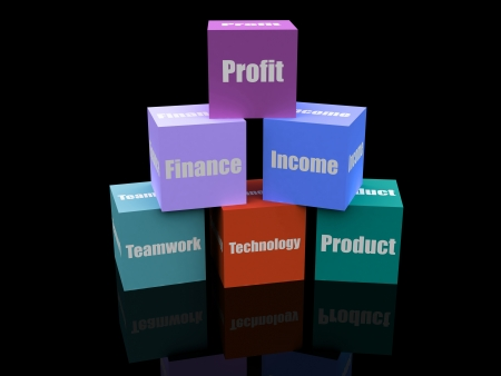 financial cubes Stock Photo - 13853865