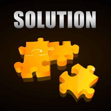Solution puzzle Stock Vector - 16047765