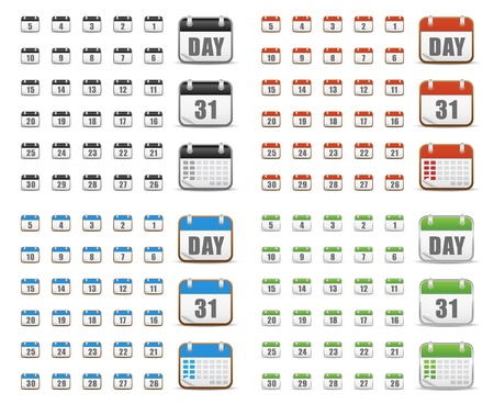 Website icons, calendar icons, icons Set, web buttons Stock Vector - 16047836