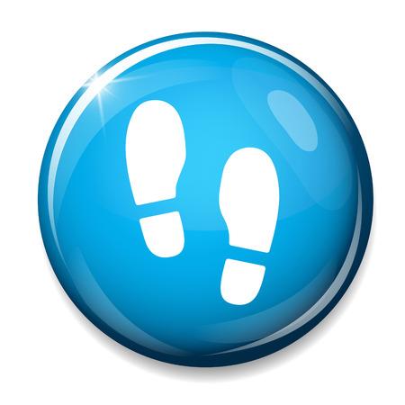 shoe print: shoes sign icon. Shoe print symbol.