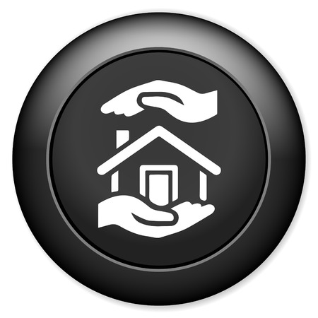 house for sale: Home sign icon. House for sale. Illustration