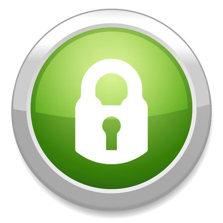 login button: Lock sign icon. Login button