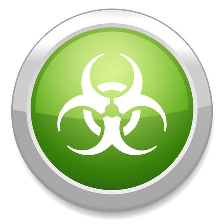 hazardous waste: Biohazard icona segno. Pulsante Pericolo