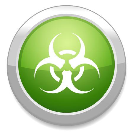 biological waste: Icono de Biohazard. S�mbolo Peligro.