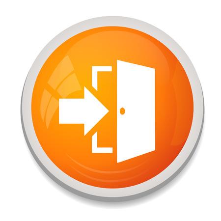 door sign: Door sign icon. Enter symbol. Illustration