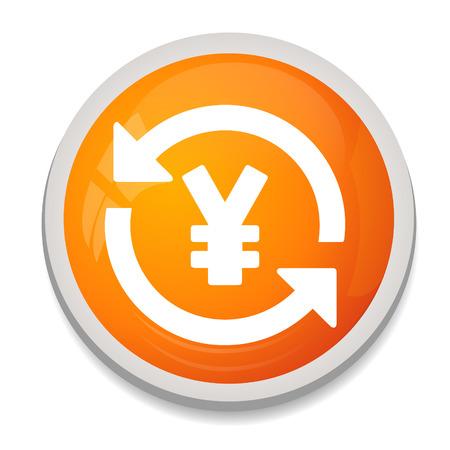 yen sign: Icono de signo Yen. s�mbolo de moneda.