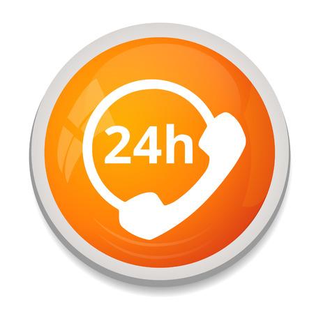 customer service icon: 247 customer service icon