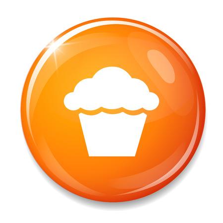 Muffin sign icon. Cupcake symbol Vector
