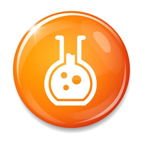 laboratory equipment: Laboratory equipment symbol. Illustration