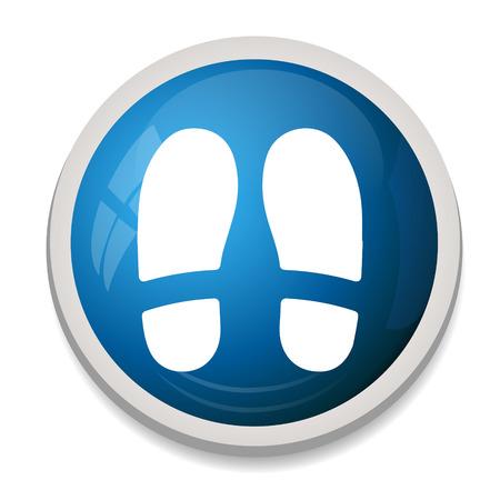 shoe print: Shoe print sign icon