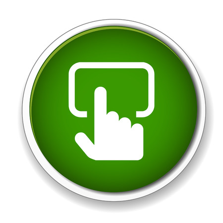 touch: Touch screen monitor sign icon.