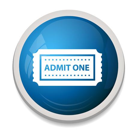admit: Admit one ticket icon Illustration