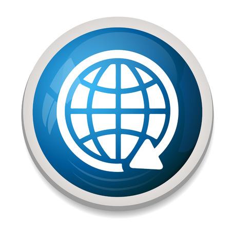 icono comunicacion: icono de la comunicaci�n global de la tierra Vectores