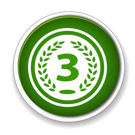lugar: Icono de premio Tercer lugar Vectores