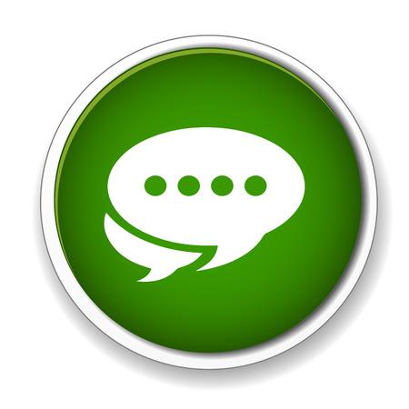 kletsen: Chat icon Stock Illustratie