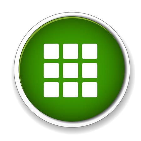 thumbnails: Thumbnails grid icon Illustration