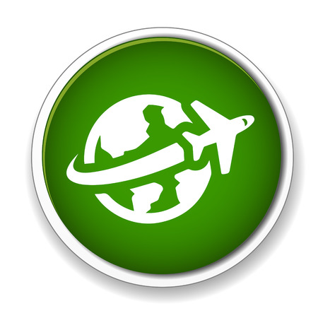travel icon: wereldwijde reizen pictogram Stock Illustratie