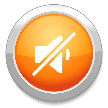 Mute speaker sign icon. Sound button. Vector