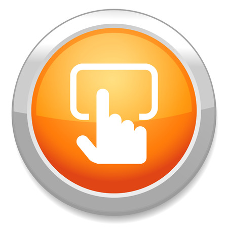 Touch screen monitor sign icon. Vector