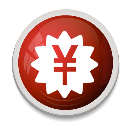 yen sign: Yen sign icon. JPY currency symbol. Money button. Vectores