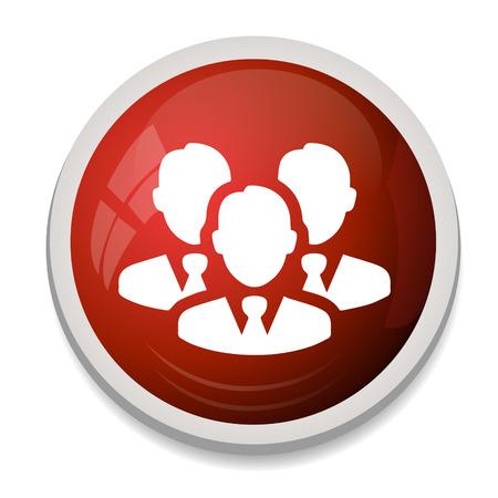 red de personas: people network icon
