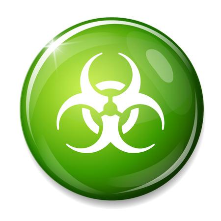hazardous waste: Biohazard sign icon