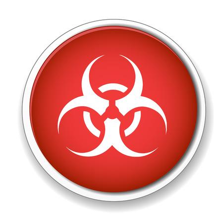 biological waste: Icono de Biohazard. S�mbolo de peligro.