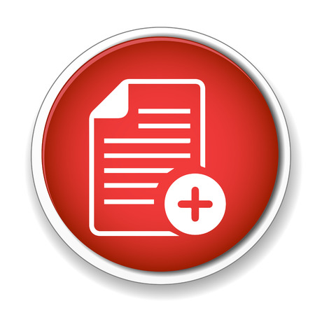 icons site search: Add Text file sign icon. File document symbol. Illustration