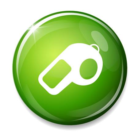 soccer coach: whistle icon