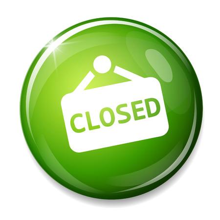 door sign: Closed door sign