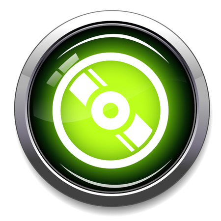 compact disc: CD  DVD sign icon. Compact disc symbol