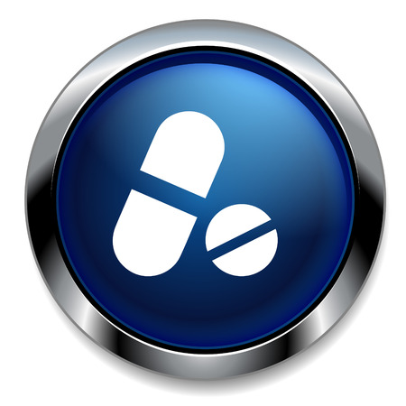doctor tablet: Medical pill icon. Drugs symbol.