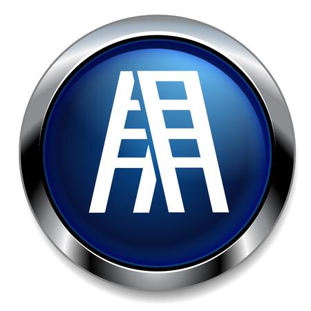 stepladder: step ladder icon Illustration