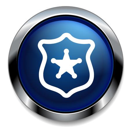 icono policia: icono de la polic�a Vectores