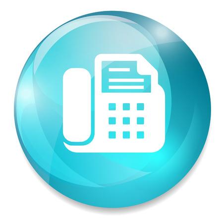 icono fax: icono de fax