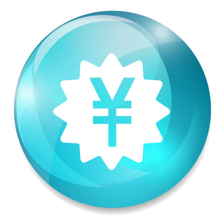 yen sign: Icono de signo Yen. S�mbolo de moneda JPY. Bot�n del dinero.