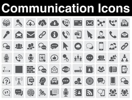 button icons: Communication icons set