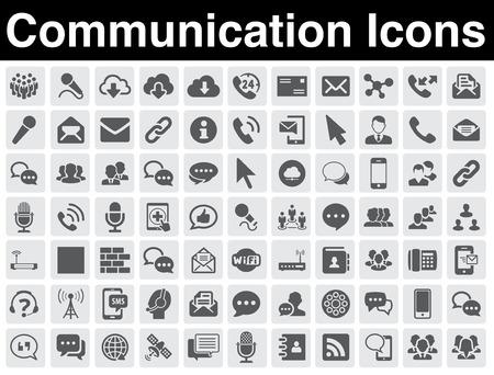 icon buttons: Iconos de comunicaci?stablecidos Vectores
