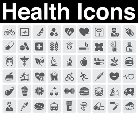 health icons set Vector