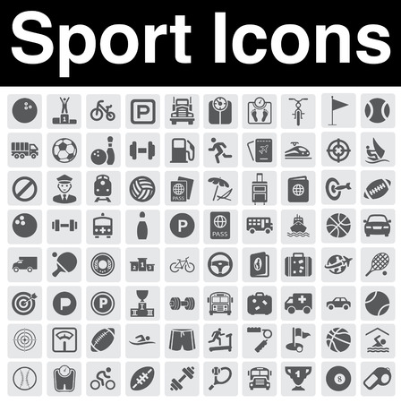 isolated icon: Set di icone dello sport