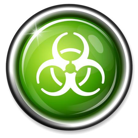 hazardous waste: icona biohazard