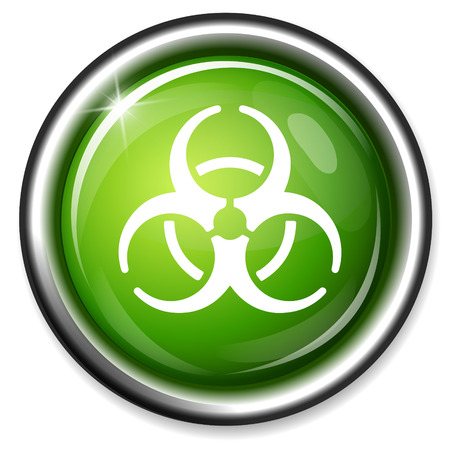 biological waste: icono de riesgo biol�gico