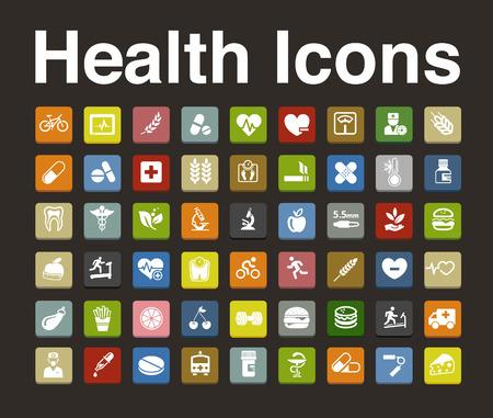 icone sanit�: Icone di salute set