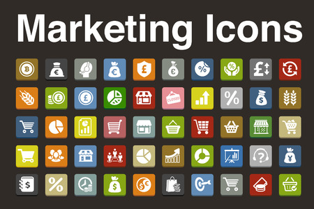 Marketing icons set Vector