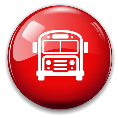 Школа: Значок школьный автобус