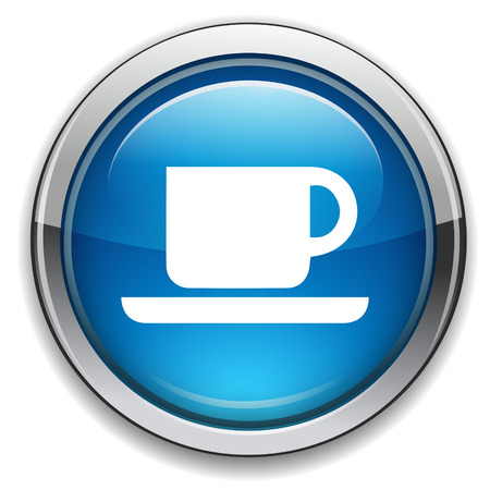 coffee: Coffee cup icon. Coffee button