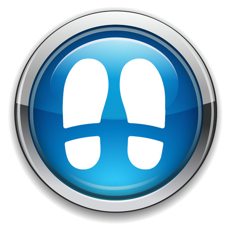 shoe print: Shoe print sign icon.. Illustration