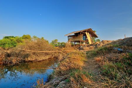 fungicide: The farmers hut Stock Photo