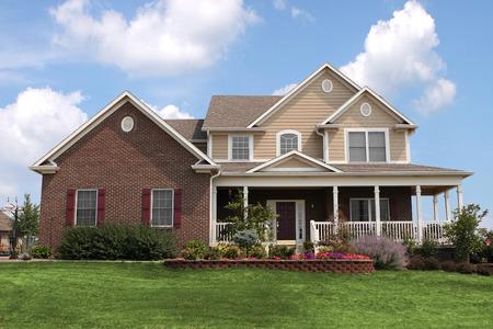 suburban neighborhood: Nice, newly constructed home