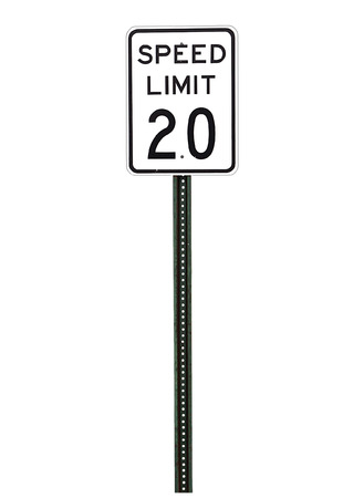 speed limit sign on white background